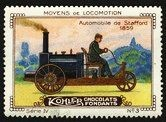 Kohler Serie IV No 03 Moyens de locomotion Automobile de Stafford 1859 Schoko