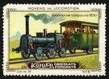 Kohler Serie IV No 05 Moyens de locomotion Locomotive Compound 1830 Schoko