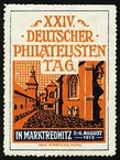 Marktredwitz 1912 XXIV Deutscher Philatelisten Tag