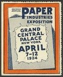 New York 1924 Paper Industries Exposition